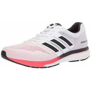 Adidas Adizero Boston 7 Zapatillas de Running para Hombre, White/Carbon/Shock Red, 9.5 M US