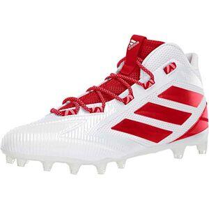 Adidas Freak Carbon Mid Zapatillas de fútbol para Hombre, Blanco/Rojo Encendido/Rojo Activo, 4 US