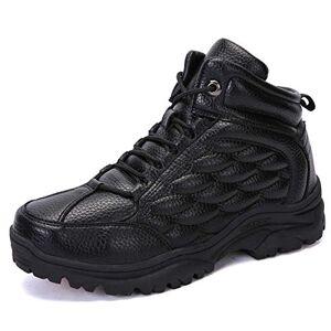 Treasu-LQ Botas de Camping de otoño e Invierno para Hombre Zapatos de Senderismo de Alta al Aire Libre Zapatos cómodos para Caminar Impermeables
