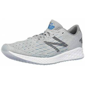 New Balance Men's Zante Pursuit V1 Fresh Foam Running Shoe, light aluminum/steel/deep ozone blue, 8 2E US