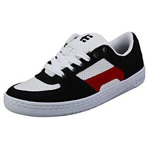 Etnies Senix Lo Zapatillas de Skate para Hombre, Negro/Blanco/Rojo, 6.5 US