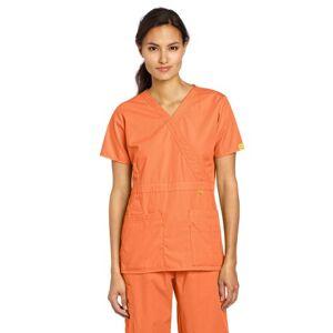 WonderWink Scrubs Playera de Golf para Mujer, Naranja (Orange Sherbet), XXXL
