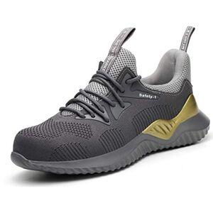 Desconocido SafeByAlex Zapatos de Seguridad de Trabajo con Puntera de Acero 2019 Estilo Corredor de Verano para Hombres y Mujeres Industrial y construcción, A002-grey, 9.5 US