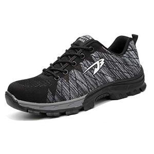 Desconocido SafeByAlex Zapatos de Seguridad de Trabajo con Punta de Acero, Peso Ligero, 2019 Verano Fresco para Hombres y Mujeres, Industrial y construcción, 532/Grey, 11