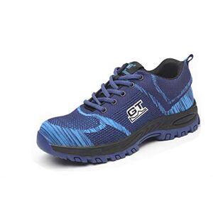 Desconocido SafeByAlex Zapatos de Seguridad para Trabajo, con Puntera de Acero, Ligeros, Estilo Zapatilla para Hombres y Mujeres, Industrial y de construcción, 118-blue, 9.5 M US