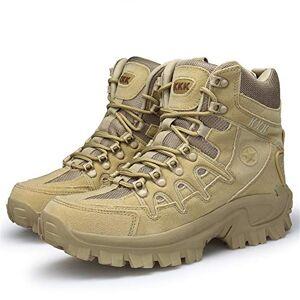 Bitifang Botas tácticas Hombres Combate Senderismo Caza Zapatos de Cremallera Militar
