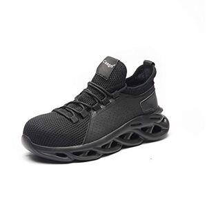 Feichi Botas de Seguridad para el Trabajo, Zapatos de construcción Industrial con Punta de Acero Transpirables, livianos, confiables y duraderos
