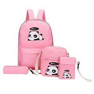 ekqw015l Mochila de moda para niños y 4 piezas para niñas con diseño de panda