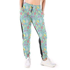 GULTMEE Pantalones de chándal para Mujer, diseño de Playa con veleros y arcoíris, Multicolor2, X-Large