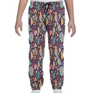 GULTMEE Pantalones de chándal para jóvenes, diseño de Estrellas mexicanas Coloridas, círculos y Rayas Latinos Ornamentales, S-XL, de colores2, Large