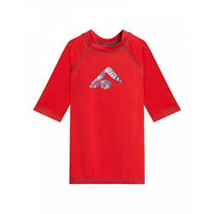 Kanu Surf Haywire UPF 50+ Playera de natación para niño, Twister Rojo, 10