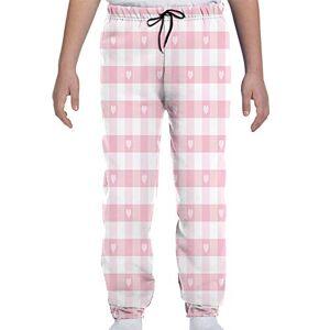 GULTMEE Pantalones de chándal para jóvenes, diseño romántico de Corazones con Texto en inglés Love Valentines, para niños y niñas, S-XL, de colores1, Large