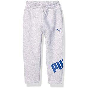 PUMA Pantalones de Forro Polar para niño, Gris Claro Jaspeado, 7