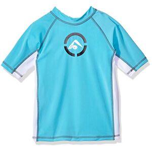 Kanu Surf Boys' Big Revival UPF 50+ Sun Protective Rashguard Swim Shirt, Aqua, X-Small (6)