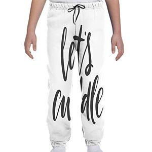 GULTMEE Pantalones de chándal para jóvenes, caligrafía escrita a Mano con diseño de corazón y Amor en el patrón de Manchas de pintalabios, S-XL, de colores2, Large