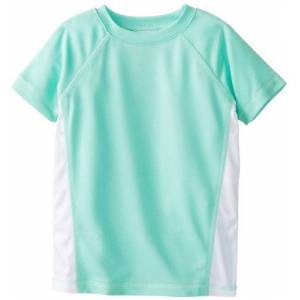 Kanu Surf Little Girls' Color Block UPF 50+ Swim tee, Ice Green, 2T