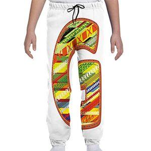 GULTMEE Pantalones de chándal para jóvenes, diseño de caligrafía roja, S-XL, de colores1, Small