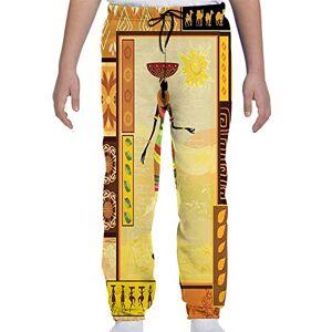 GULTMEE Pantalones de chándal para jóvenes, Estilo étnico y étnico bajo el Sol, diseño Tribal de Cultura Popular y Elegancia, S-XL, de colores1, Medium