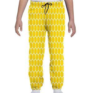 GULTMEE Pantalones Deportivos para jóvenes, ilustración gráfica artística de células de rodar de Abeja Rellenos de Miel, S-XL, de colores1, Medium