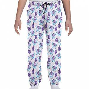 GULTMEE Pantalones de chándal para jóvenes, diseño de Rosas abstractas en Rayas, Tallas S-XL, de colores1, Large