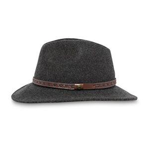 Sunday Afternoons Sombrero de Rambler, Color Gris Oscuro con Calor, tamaño Mediano
