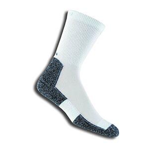 Thorlos LRXM Calcetines para correr, Blanco/ azul marino, X-Large