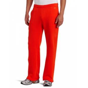 SOFFE Pantalón de Forro Polar con Bolsillos, Naranja/Fiesta de Bloques, Small