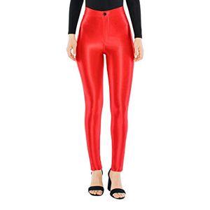 American Apparel The Disco Pantalón para Mujer, Rojo, XL