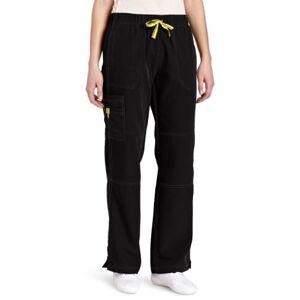 WonderWink Women's Scrubs Four Way Stretch Sporty Cargo Pant, Black, XX-Large