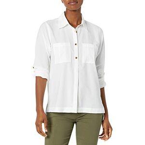 Columbia Essential Elements Camisa de Manga Larga para Mujer, Essential Elements Playera de Manga Larga, Blanco, X-Large