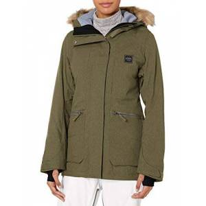 BILLABONG Into The Forest Chaqueta de Snowboard para Mujer, Verde Oliva, S