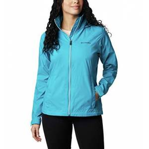 Columbia Switchback Iii Chaqueta impermeable ajustable para mujer, Azul fiordo, 1 X