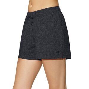 Champion Pantalón corto de punto para mujer, Gris grafito, XL