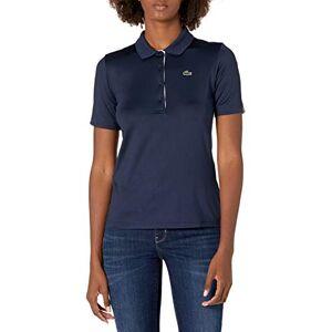 Lacoste Polo de Golf para Mujer, Navy Blue/White, 10