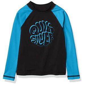 Quiksilver Bubble Trouble Slevee Camiseta de Surf de Manga Larga para niño, Black Bubble Trouble LS Boy, 5