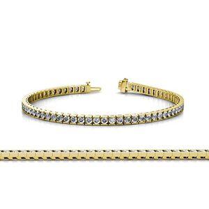 TriJewels Diamond Juego de pulseras de tenis (2 mm, SI2-I1, G-H) 2,43 ct tw en oro amarillo de 14 K