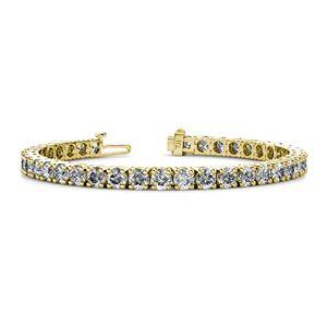 TriJewels Pulsera de tenis de eternidad para mujer con diamantes de laboratorio (SI1-SI2, H) 10,25 quilates y oro de 14 quilates
