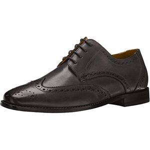 Florsheim Montinaro Zapatos de vestir con cordones para hombre, Negro, 9 Wide