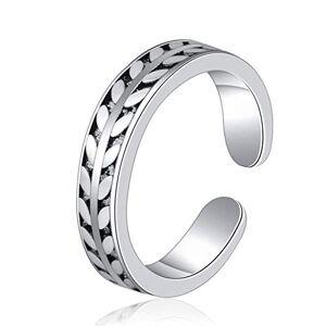 Mooko Anillo para mujer, diseño de hoja tailandesa, plata envejecida, anillo de plata envejecida, creativo, regalo de graduación para niñas
