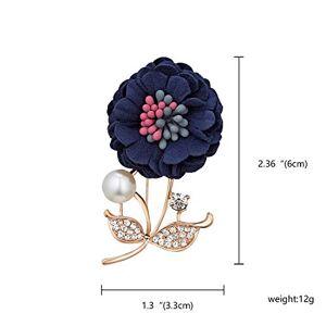 KAIIXZ Broche Colorido Paño Flor Pin Broche Boda Para Mujer Elegante Moda Ramillete Vintage Joyería Accesorios Regalo De Cumpleaños Arco
