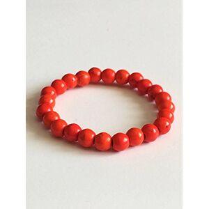 WORLD WIDE GEMS AAA++ Rare Quality Orange 8mm Woman's Stretch Gemstone Dainty Bohemian Plus Size Beaded Jewelry Code-