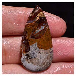 Generic 20,7 CT 100% Natural Jasper de café con Forma de Pera cabujón de Piedra Preciosa Suelta G986