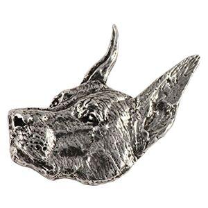 Creative Pewter Designs Broche de solapa para perro, sin plomo, de peltre antiguo, fabricado en Estados Unidos, todas las razas de mascotas, realista
