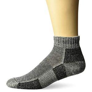 Thorlos Men's / Women's Moderate Cushion Trail Running Quarter Socks Black XL