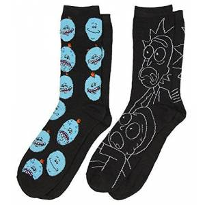 Rick And Morty 2 Pack Casual Crew Calcetines (Adulto, Rm3), Zapato 6-12
