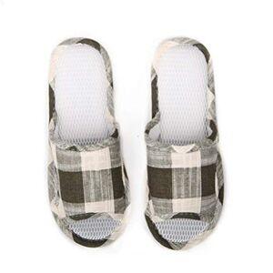 JaHGDU Zapatillas clásicas Zapatillas de Malla para Hombre Zapatillas de Dormitorio Interior, Interiores, Sala de Estar Zapatillas Antideslizantes para Hombres Zapatos Azul Verde