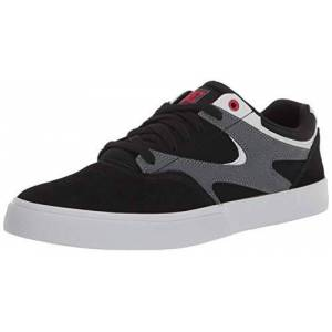 DC Kalis Vulc Zapatillas de Skate para Hombre, Negro/Athletic Rojo/Negro, 8 US