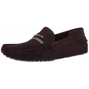 Lacoste Plaisance 120 1 CMA Mocasines para Hombre, marrón, Caqui, (Dark Brown/Khaki), 9.5 US