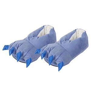 BESTOYARD Pantuflas Unisex cálidas para Invierno, diseño de Pata de Dinosaurio, Talla S, Color Rosa, Azul, S for Size 23-24 (Kids)