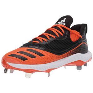 Adidas Zapatos de béisbol Icon V Bounce Cleats para Hombre, núcleo Negro/núcleo Negro/Naranja, 10
